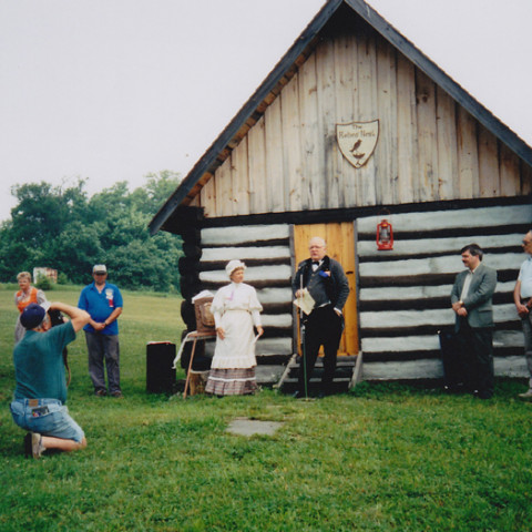 Log Cabin Dedication